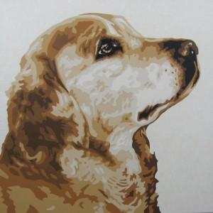 Golden Retriever Pop-Art Painting
