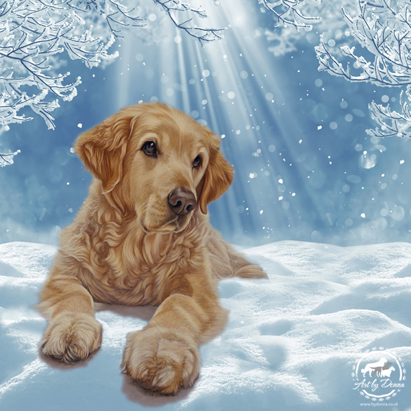 Golden-Retriever-Christmas-Cards-and-Decorations